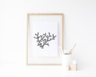 Coral Drawing Print