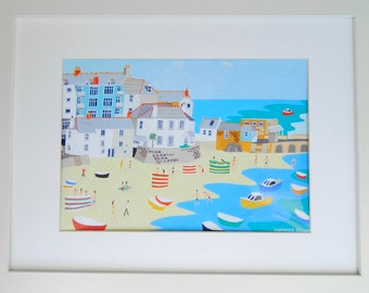 ST IVES, CORNWALL - Framed Art Print by artist Richard Lodey