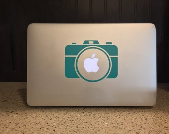 Camera - Apple - Mac - Laptop Sticker, Decal, Vinyl - Solid or Lilly Pulitzer Inspired