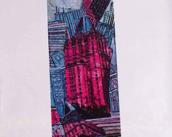 Bookmark for Pink New York melaniebernard.com book