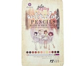 Prima Julie Nutting Watercolor Pencils - Hair and Skin Tones - Set of 12 in Tin Case