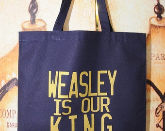 NEW ITEM!!  Weasely King tote bag