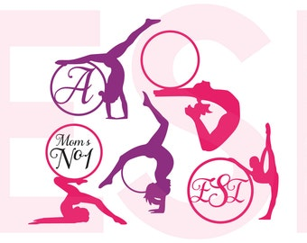 Gymnast SVG, DXF,EPS, Gymnastics, Design files, Vinyl cut files, use with Silhouette Studio and Cricut Design space.