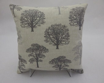Scatter Cushion Covers Grey Trees Fabric16x16 Lilleybee. Free P&P UK