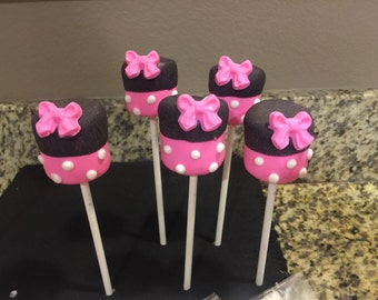 12 chocolate dipped marshmallow pops