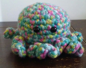 octopus plushie- rainbow shimmer