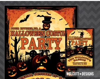 Halloween Costume Party - Costume Party Invitation - Costume Party Halloween - Halloween Invite