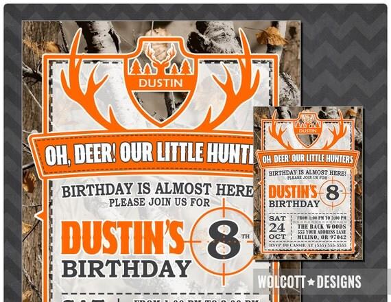 Hunting birthday invitations little hunter birthday invitation il570xn filmwisefo