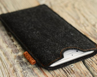 iPhone 6 plus cover Felt case Handmade gift iPhone 6 plus felt case Christmas gift