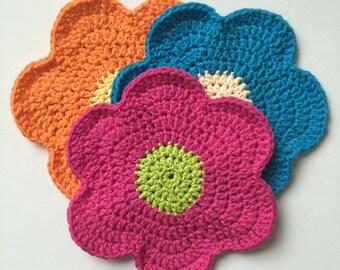 Flower washcloths