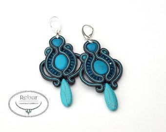 "Soutache earrings ""Laura"""