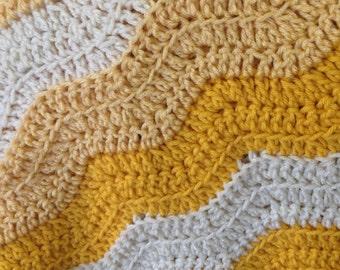 Soft waves baby blanket
