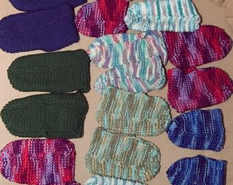 Knitted slippers for women men children custom simple knit in batch or unit