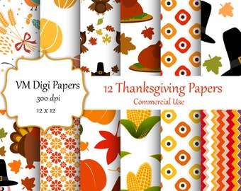 Thanksgiving Digital Paper, Thanksgiving, Autumn Digital Paper, Fall Paper, Digital Paper, Thanksgiving Paper, Thanksgiving, #2884