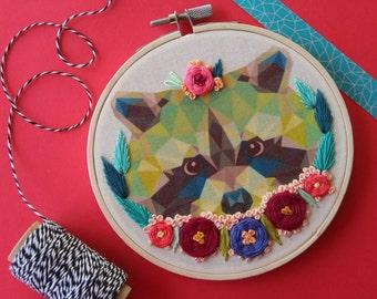 Raccoon Hoop Art
