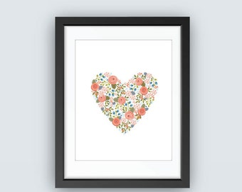 Wild Heart Floral Print