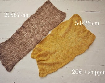 wraps in brown and mustard