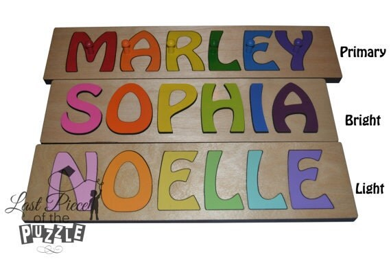 Hand Crafted Personalized Wooden Name Puzzles Child S