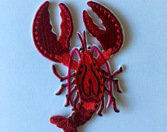Lobster embroidered patch / applique