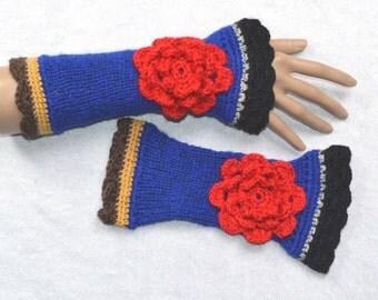 fingerless gloves, arm warmers, fingerless mittens,romantic gloves