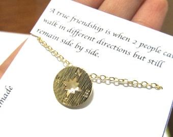 A1 Friendship Best Friend Gift Compass Necklace/Compass Necklace/Friendship necklace/friendship compass Necklace/Best friend friendship gift
