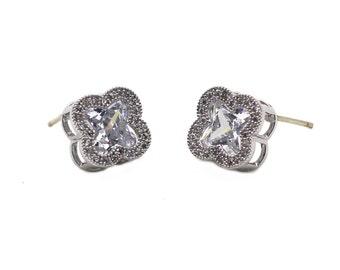 Stylish cherry crystal earrings