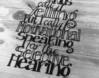 Yelling vs Motivational Speaking -  template for paper cutting - Personal and Commercial Use PDF