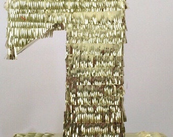 Number Pinata Gold Color Silver Color Traditional or Pull Strings Pinata
