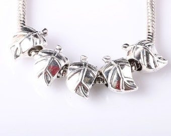 European Leaves Charms for all European Charm Bracelets