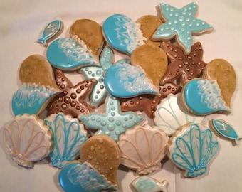 Sea ocean themed cookies