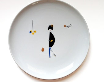 Oui - illustrated plate