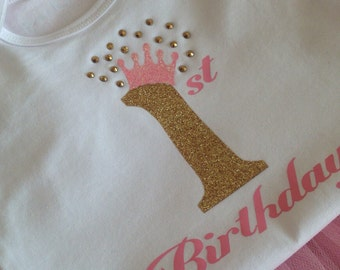 Baby Girl 1st Birthday Onesie