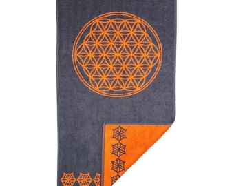 FREE SHIPPING Sacred Geometry for Men Seed of Life for Men Sacred Geometry Grid Bath Towel Flower of Life Clothing
