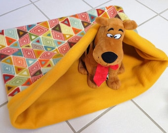Snuggle Sack Dog, Pet Burrow Bed, Pet Sleeping Bag, Cat Sleep Sack, Pet Travel Blanket