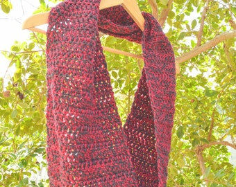 Imperfect Sale, Crochet Scarf, Infinity Scarf, Crochet Infinity Scarf, Burgundy and Grey Scarf, Winter Scarf, Grey Crochet Scarf, Burgundy