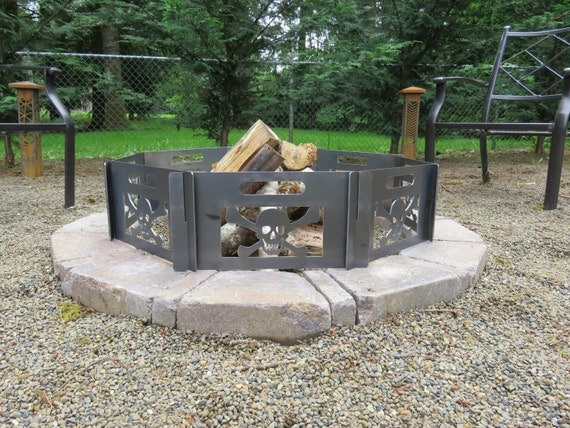 how to make fire pit skulls