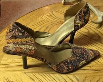 High Heeled Pumps Shoes Highlights Women's Size 71/2