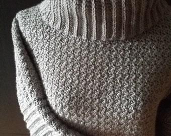 Crochet Cowl Neck Sweater, turtleneck sweater, handmade sweater, crochet sweater