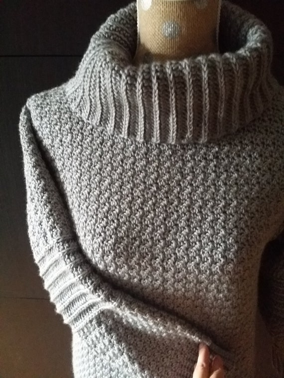 Crochet Cowl Neck Sweater Her Sweater