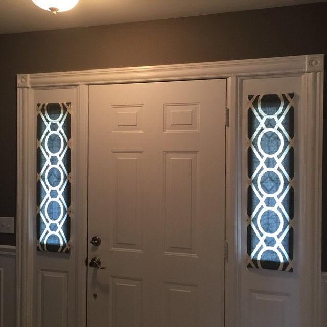 Greystone door panels foyer rod pocket front door entry for Pocket front door