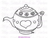 Digital stamp colouring image - Teapot. jpeg / png