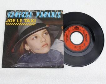 Vintage Record VANESSA PARADIS ---- Joe Le Taxi ----- 1987 Original record