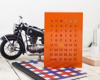British BLOCK Magnetic Calendar