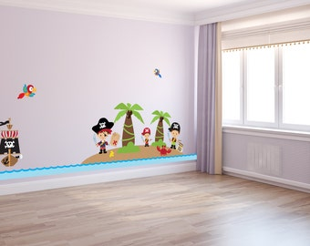 Little Boy's Pirate Island Wall Decals - WDSET10048-A