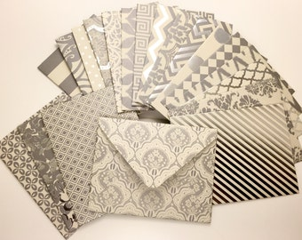 Handmade Envelopes - So Silver