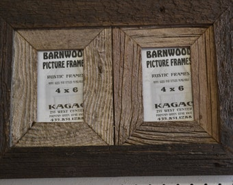 Rustic Barn Wood Collage 4 X 6 2 place barnwood collage