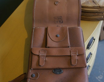 1950's Russian Military Leather Satchel
