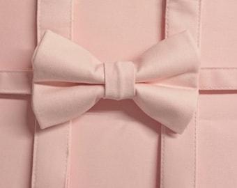 Children's & Adults Suspenders in The Prettiest Cotton Sateen Soft Pink
