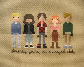 The Breakfast Club Cross-Stitch