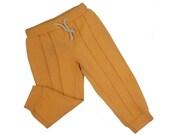FINAL SALE!Cotton Baby pants-Mustard pants-Toddler cotton Pants-Kids mustard pants-Unisex Baby Pants-Organic Baby Pants-Mustard Harem Pants